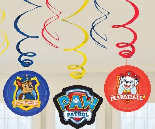 Paw Patrol Joyeux Anniversaire Suspendu Tourbillon Bannière Fête Décoration partyware