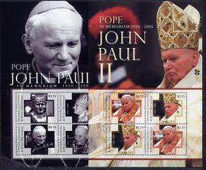 Grenade Grenadines 2010 Le Pape Jean-paull Ii Pope John Paul 4556-63 ** Neuf Sans Charnière