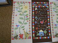 P & B  All About Me  Growth Chart Baby Childs Kids Fabric Panel Quilting