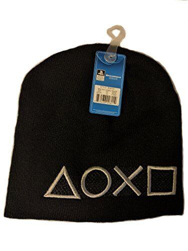 258109e06 Sony PlayStation Official Beanie HaT Controller Black Unisex Winter One Size