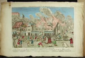 Print-18th-c1770-Fire-of-The-Fairs-Saint-Germain-Door-Trailing-1762