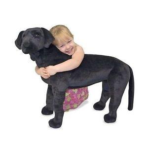 Melissa And Doug Large Black Lab Stuffed Animal Ebay