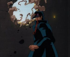 Jojo-039-s-Bizarre-Adventure-OVA-Anime-Cel-Douga-BG-Animation-Art-Jotaro-vs-Dio-1993
