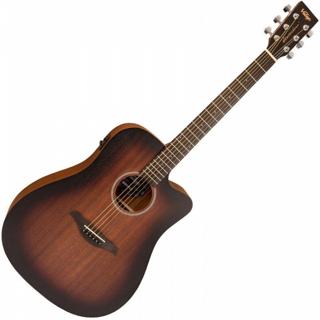 Vintage Paul Brett Firmado StatesbGold'Dreadnought E  un Guitar