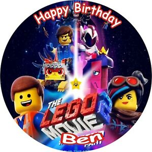 Brilliant Lego Movie 2 8 Birthday Icing Cake Topper Ebay Birthday Cards Printable Trancafe Filternl