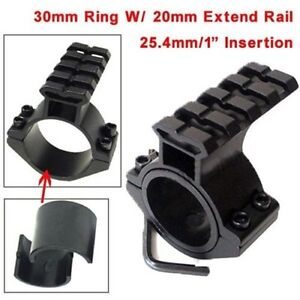 Hunting-30mm-Ring-25-4mm-1-034-Insertion-Barrel-Ring-Mount-W-20mm-Extend-Rail-Mount