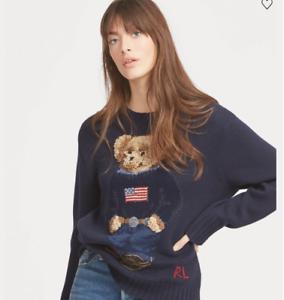 439fcfc5d774 Image is loading Ralph-Lauren-Polo-Bear-Cotton-Sweater-Size-Medium