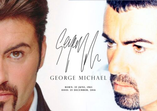 - A4 copy Signed #16 297mm x 210mm George Michael tribute poster