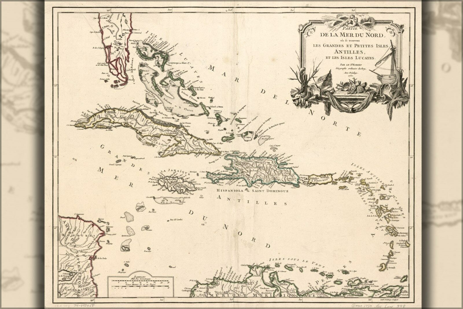 Poster, Molte Misure; Mappa Del Ovest Indies In