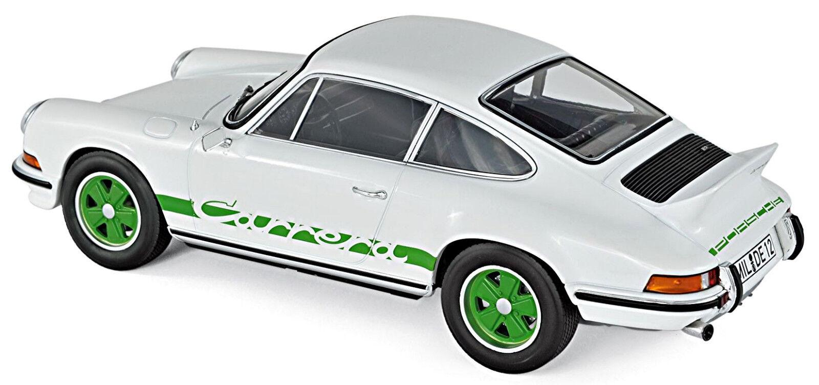 Porsche 911 Carrera Rs 2.7 Coupè 1973 Bianco green Bianco green 1 18 Norev