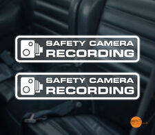 Safety Camera Recording Windscreen decal 140x30 / in car CCTV /  DASHCAM Sticker