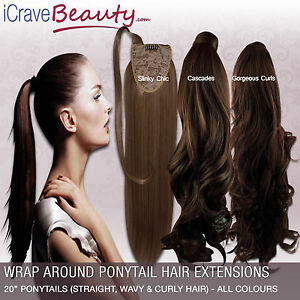 Clip-in-Ponytail-Wrap-Around-Ponytail-Hair-Extensions-Straight-amp-Wavy-Hair