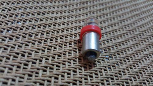 2X Lionel Marx Train Signal Crossing Switch 363 Ba9s Red Light Bulb 9V-12V