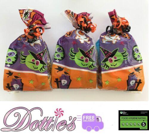 Conjunto de x10 Halloween Pre Relleno Dulce Bolsas De Regalo