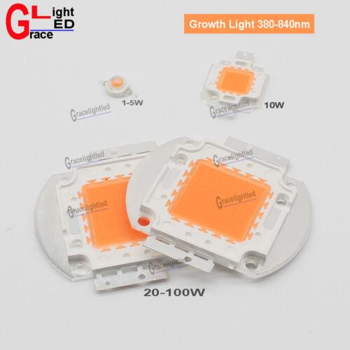 High Power led Growth light full spcturm 380-840nm 1w 3w 5w 10W 20W 30W 50W 100W