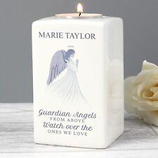 Personalised Guardian Angel Wings Floating Candle Holder Memorial Funeral Grave