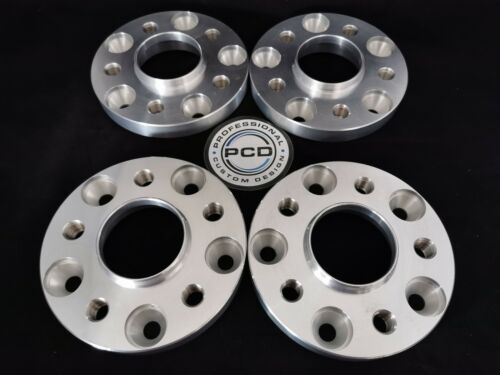 5x120-5x112 Hubcentric ADATTATORI 20 mm 65.1-66.5CB Acciaio Inox filettature UK