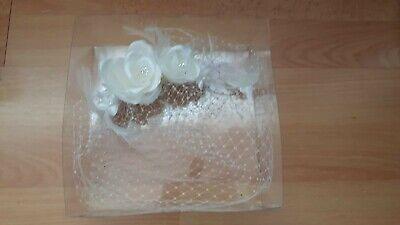 Braut Schleier Weiß Extravagant Mit Blüten Und Steckkamm -neu Und Ovp!- GüNstigster Preis Von Unserer Website