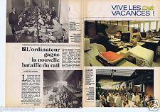Coupure de presse Clipping 1981 L'Ordinateur et la bataille du rail (5 pages)