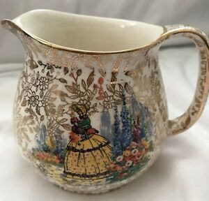 Empire England Gold Leaf and Lady Creamer