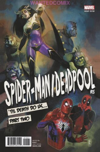 SPIDER-MAN DEADPOOL #15 REIS POSTER VARIANT COVER COMIC BOOK NEW 1 2017