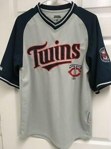the latest 925ec f6158 MINNESOTA TWINS Men V Neck Pullover Gray Navy Baseball ...