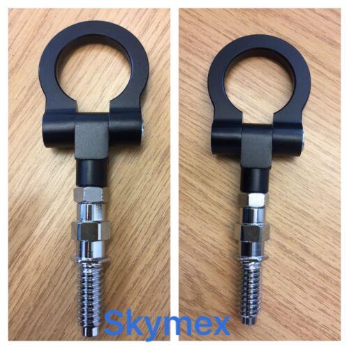 Black TOW HOOK TRAILER FOR BMW CARS M E30 E32 E36 E46 E60 E81 E90 E91 E92