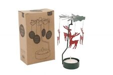Reindeer Spinning Tealight Holder - Traditional Christmas Candle Decoration
