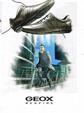 PUBLICITE ADVERTISING 035  2010  GEOX  chaussure détente homme