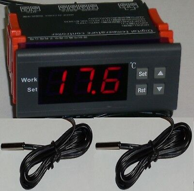 Differential Temperature Controller Water Heater Solar Panel Water Pump 2 Sensor
