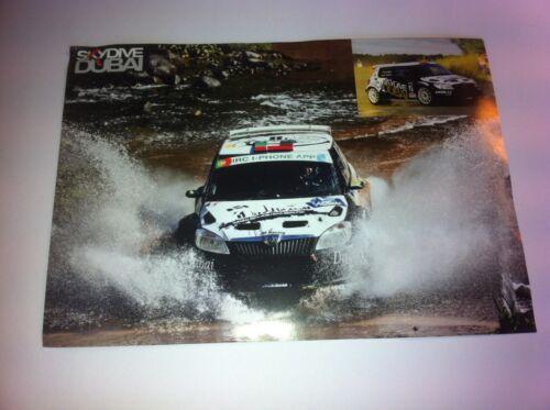 CP POSTCARD CARTOLINA SKODA FABIA S2000 AL KETBI AZORES RALLY 2012 RALLYE WRC