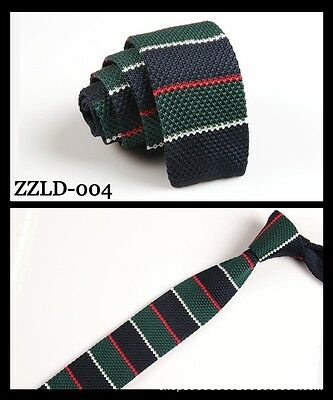 Fashion Men's Colourful Tie Knit Knitted Tie Necktie Narrow Slim Skinny Woven