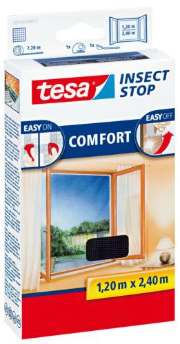 2,4 M Tesa moustiquaire COMFORT velcro pour sol profondeur fenêtre 1,2 M