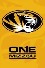 MISSOURI TIGERS ~ ONE MIZZOU LOGO 22x34 POSTER NCAA University College