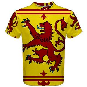 New-Scotland-Rampant-Lion-Flag-Sublimated-Men-039-s-Sport-T-Shirt-Size-XS-3XL