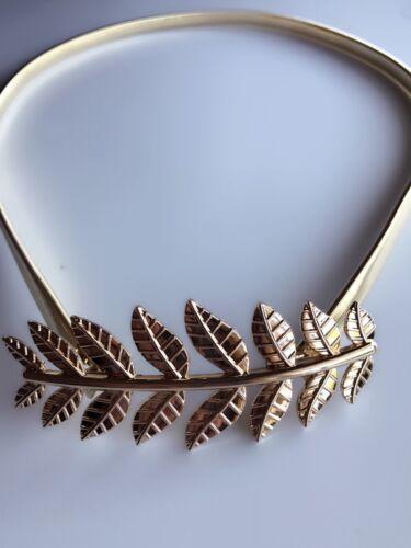 Lady Women Gold Metallic Leaf buckle bling Dress Waist band Metal Belt Chain