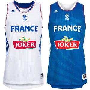 Frankreich-adidas-Basketball-Trikot-Nationalmannschaft-Jersey-S-M-L-XL-2XL-neu