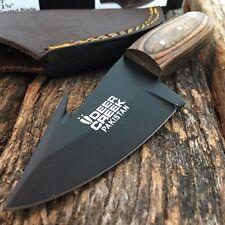 DEER CREEK FIXED BLADE GUT HOOK SKINNING KNIFE Hunting Bowie Skinner Wood New!