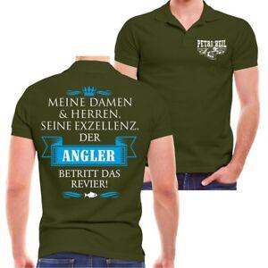 Details Zu Polo Shirt Seine Exzellenz Der Angler Spruch Hobby Fischer Angeln Lustig Sprüche