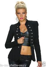 Veste Manteau Femme Officier Blazer / Noir / NEUF/ Taille : 36 , S / Jacket