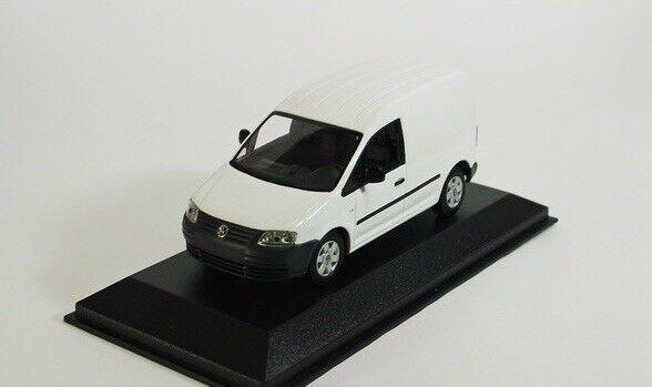 VERY RARE VW CADDY VAN 2K CANDY WHITE CODE 3 1 43 MINICHAMPS (DEALER MODEL)