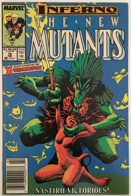 The New Mutants #72 (February 1989, Marvel) Inferno