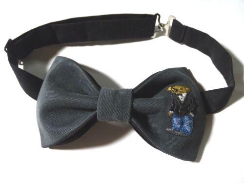 NEW Mens Preppy Bear Bow tie Custom Grey//Black  Pre Tied Adjustable Wedding Tie