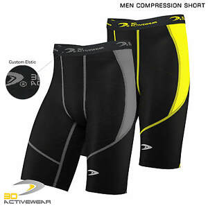 Mens-Compression-Shorts-Base-Layer-Thermal-Sport-Jogging-Skin-Half-Tights-Short