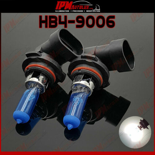 HB4 9006 Kit Set Halogen Light Bulbs Xenon Look White Main High Beam Canbus