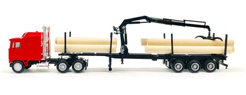 Red Kenworth K100 COE Log Truck Hoist PROMOTEX 1//87 Truck HO Scale