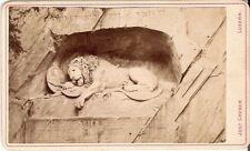 CDV photo Löwenstatue - Luzern 1870er