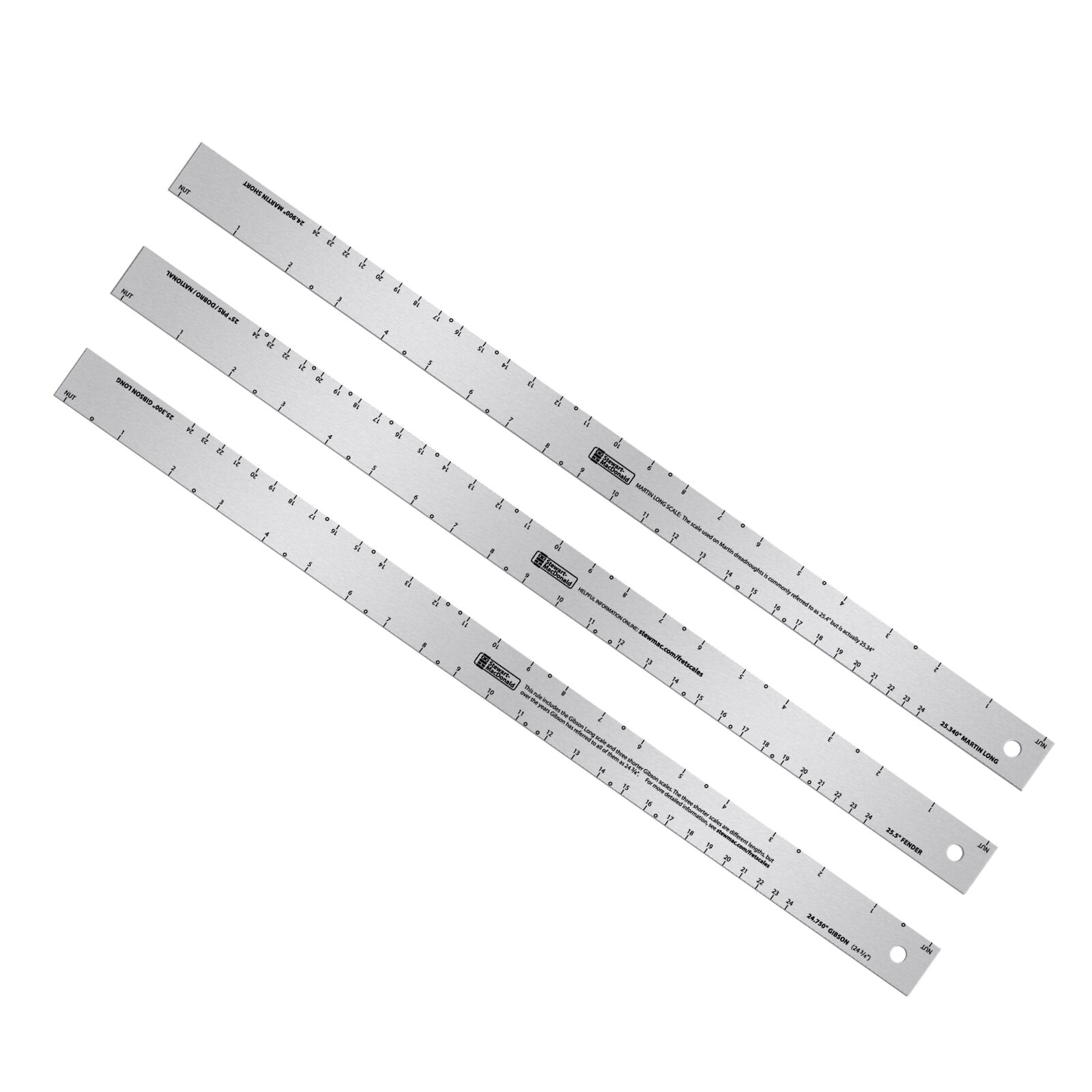 StewMac  Fret Scale Rule, Set of 3