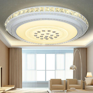 24W-90W LED Kristall Deckenleuchte Deckenlampe Badleuchte Licht ...