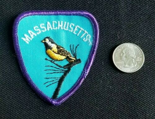 VINTAGE Massachusetts Travel Embroidered jacket heat vest Patch new old stock